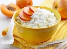 Bowl of rice flakes porridge